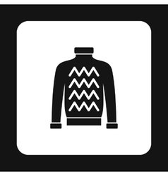 Mens sweater icon simple style vector image vector image