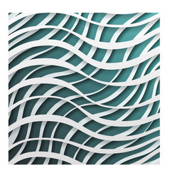 paper waves 3d realistic template design vector image vector image