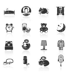 Sleep Time Icons vector image vector image