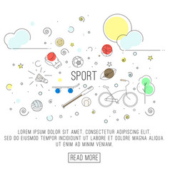 sport or healthy lifestyle vector image vector image