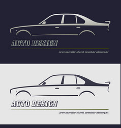 abstract car design concept automotive topics vector image vector image