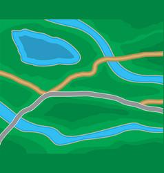 abstract city suburban map vector image vector image