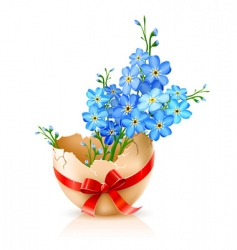 egg shell vector image vector image