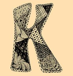 sketchy letter k on light-orange background free vector image
