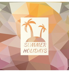 Summer background with logo vector image