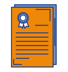 graduation certificate isolated icon vector image vector image