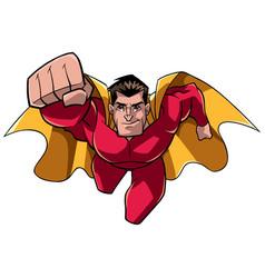 superhero coming at you vector image