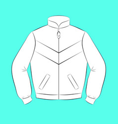 white sports jacket with black contours of vector image vector image