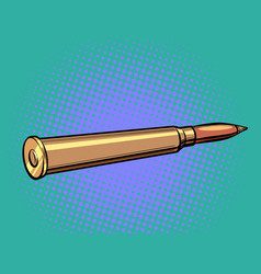 a weapon bullet firearms and ammunition crime vector image
