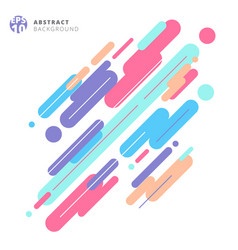 Abstract modern style composition made of various vector