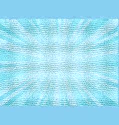 abstract sun burst blue sky color circle pattern vector image