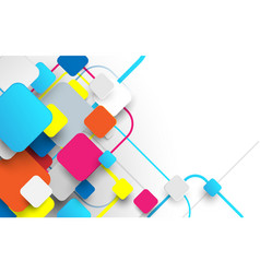 abstract white and colorful square background vector image