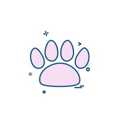animal paws icon design vector image