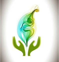 Background with ecological environment icon vector image