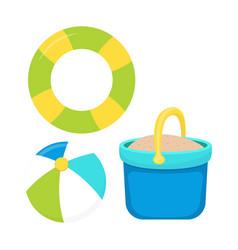 beach toys set isolated vector image