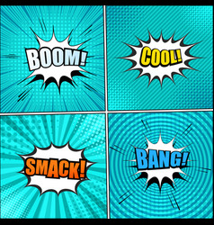 big set turquoise backgrounds vector image