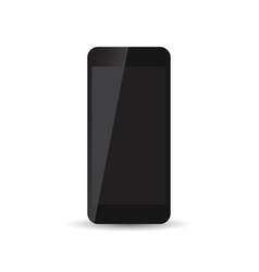 black realistic smartphone icon on white vector image