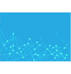 blue point polygon line internet connect network vector image