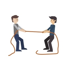 Businessmen pulling rope icon vector