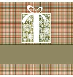christmas box card vector image