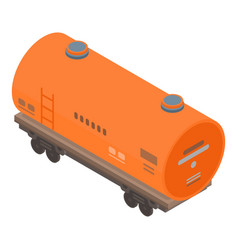 Cistern wagon icon isometric style vector