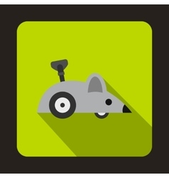 Clockwork mouse icon flat style vector