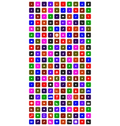 collection of 200 flat icons vector image