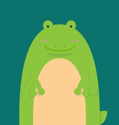 Cute big fat frog vector