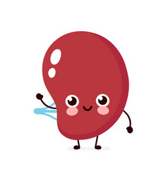 Cute healthy happy human spleen vector