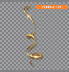decorative gold serpentine icon realistic vector image