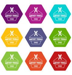 designer tool icons set 9 vector image