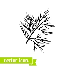 dill icon 1 vector image