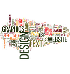 Effective web design text background word cloud vector