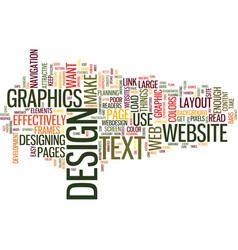 Effective web design text background word cloud vector