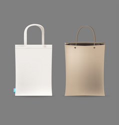 Empty shopping bag couple vector