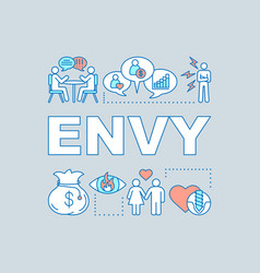 Envy word concepts banner vector