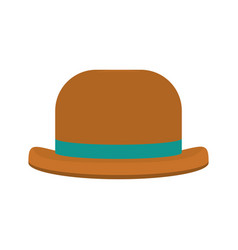 Fashion hat object carnival style vector