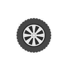 flat automobile wheel concept icon vector image