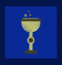 Flat shading style icon cup potion vector