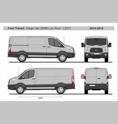 Ford transit cargo delivery van swb l2h1 2014-2018 vector