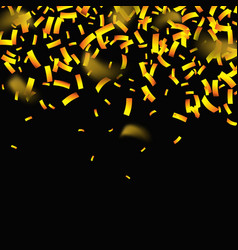 gold glitter confetti background vector image
