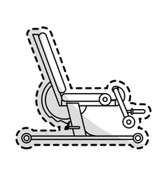 Gym equipment design vector