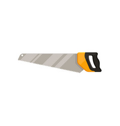 icon of crosscut hand saw with long steel blade vector image
