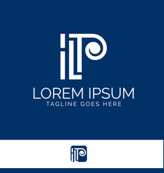 ilp letter based monogram symbol vector image