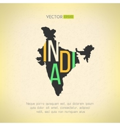 India map in vintage design Indian border vector image