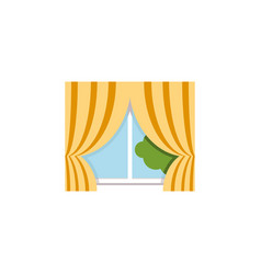 Isolated curtain flat icon glass frame vector