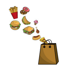 Isolated fast food design vector