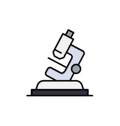 Lab microscope science zoom flat color icon icon vector