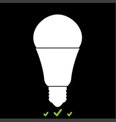 led lightbulb it is white icon vector image