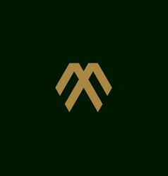 Letter m initial symbol logo design template vector
